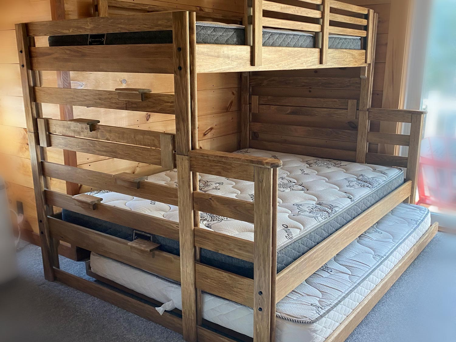 Single Top / Double Bottom with Double Trundle Bed