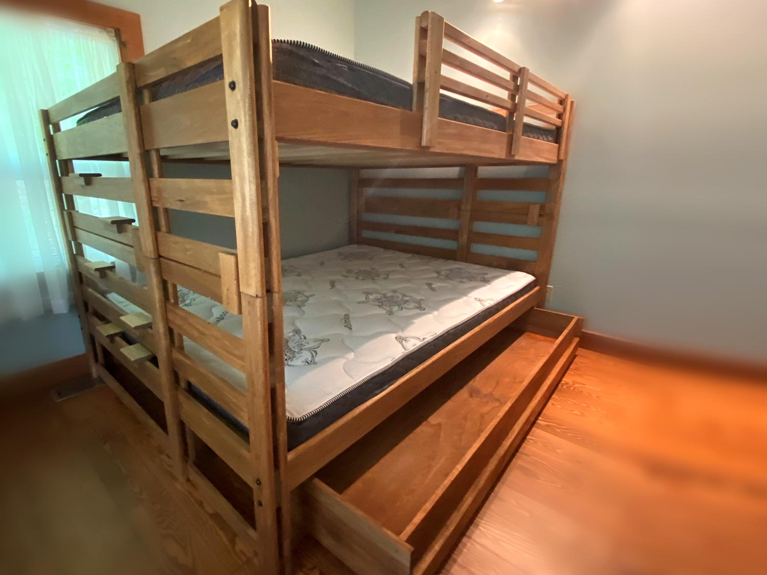 Queen Top / Queen Bottom Bunk Bed with Storage Drawer