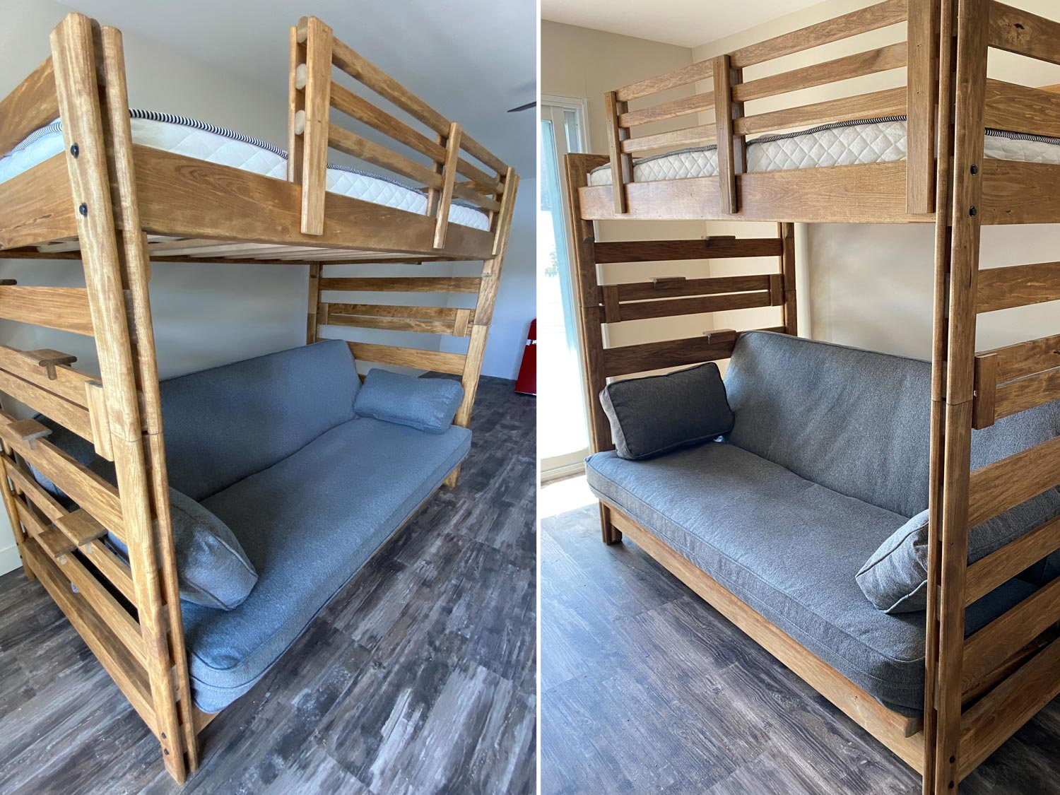 Bunkie Bed Single Top Double Bottom Coverts to Sleeper Sofa
