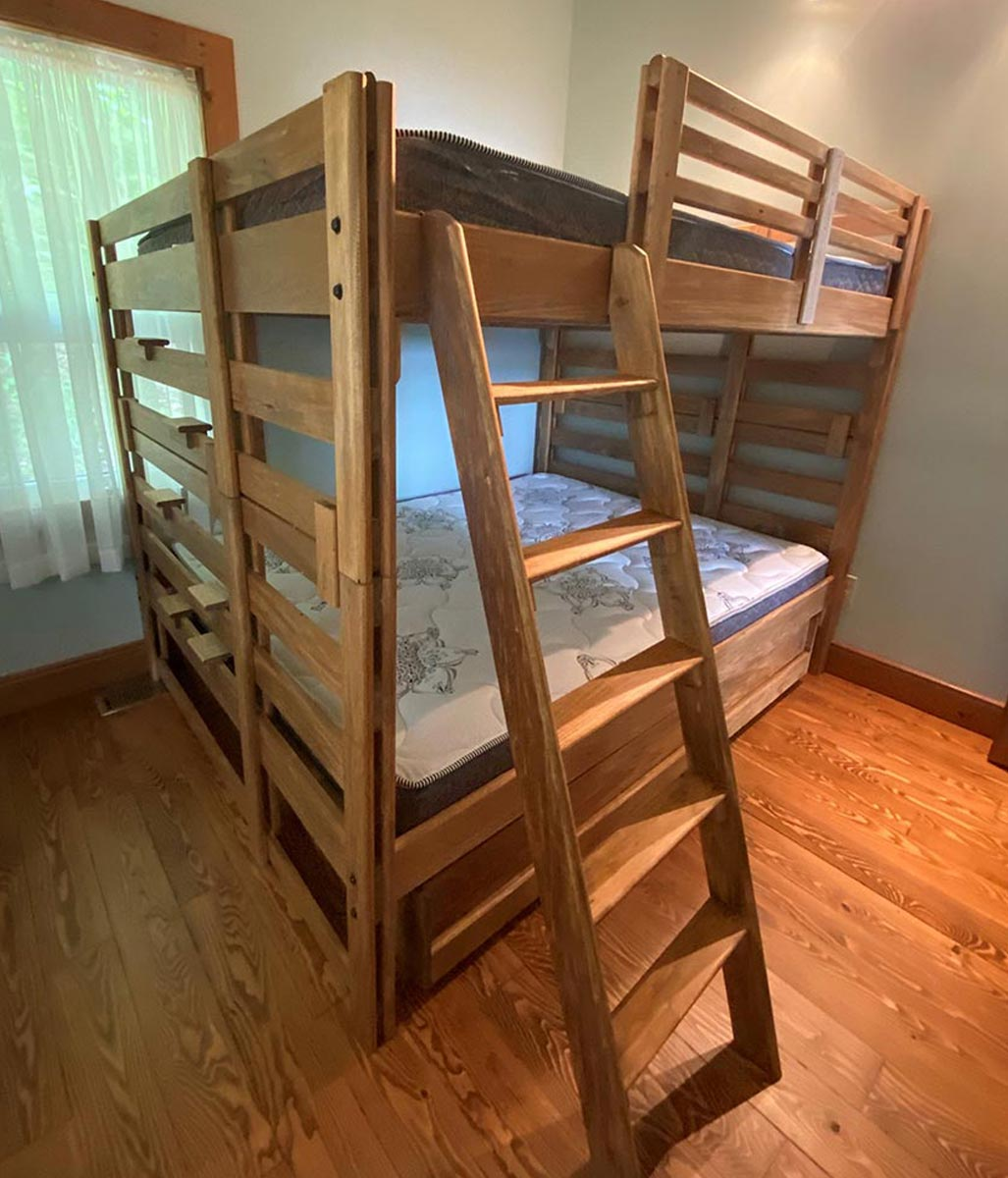 Queen Top / Queen Bottom Bunk Bed with Storage Drawer